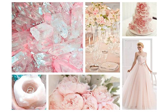 Цвет розовый кварц свадьба